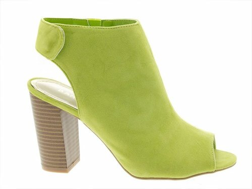 Lime Green Ankle Booties