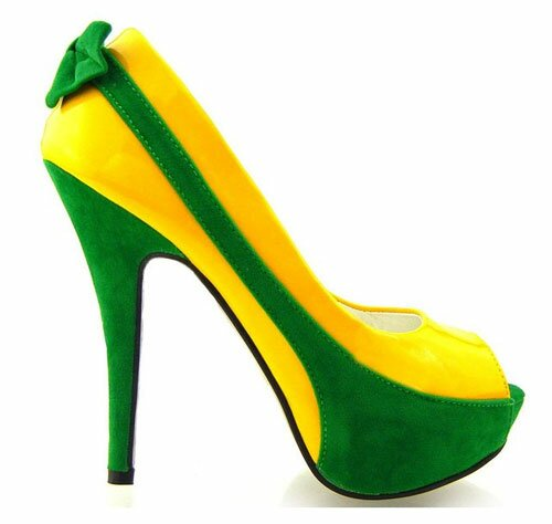 Two tone high heel shoes